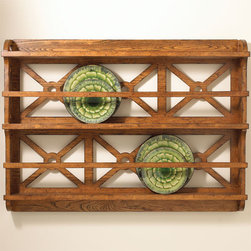 Rustic Plate Rack - Since I have a slight addiction to beautiful dishware, I love the idea of storing it in full view where it's not only functional but decorative as well.  A plate rack is a perfect addition to  the kitchen, breakfast room or dining room.