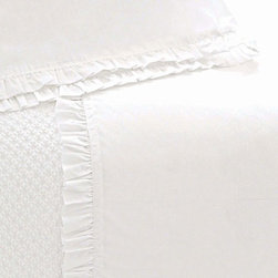 Pine Cone Hill - classic ruffle sheet set (white) - This item comes in��white.��This item size is��various sizes.