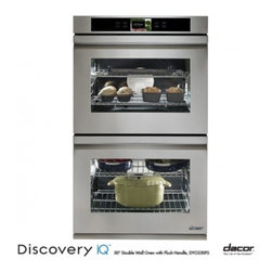"Dacor - DYO230FS Discovery iQ 30"" Electric Double Wall Oven with 4.8 cu. ft. Convection - With another industry first Dacors Discovery iQ Wall Oven blends technology and performance to deliver a unique cooking experience The integrated and intuitive Android interface provides home chefs with access to the proprietary Dacor iQ Cooking App ..."