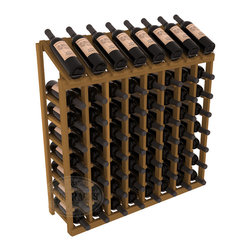Wine Racks America - 64 Bottle Display Top Wine Rack in Redwood, Oak Stain - Make your best vintage the focal point of your cellar or store. Eight of the best bottles are presented at 30 degree angles. Our wine cellar kits are constructed to industry-leading standards. You'll be satisfied. We guarantee it. Display top wine racks are perfect for commercial or residential environments.