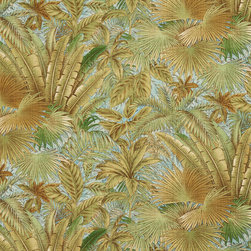 Blue And Green Floral Leaf Outdoor Indoor Marine Fabric By The Yard - This is a upholstery fabric suitable for indoor and outdoor applications. The fabric is water, soil, mildew and fading resistant. It is also Scotchgarded for further protection. It is cleanable with warm water and soap.