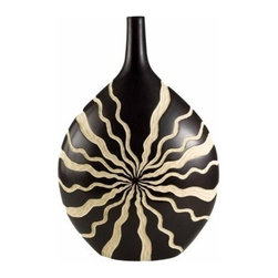 Ore International 14H in. African Crafted Vase - Cast an exotic spell over your home with this African Crafted Vase. Carved of polyresin, this vase has a deep, natural brown and cream design with native wave pattern. The large base with slender neck has designer appeal.About Ore International, Inc.Ore International, Inc. creates beautiful accent furniture, lighting, and gifts for the home. Their goal is to be the leading provider of innovative, superior home products worldwide. Ore International is based in Santa Fe Springs, California and has a Customer First attitude. Their products are designed to match modern and classic tastes and fit today's homes. From room dividers to lamps, end tables to entertainment centers, you'll discover quality craftsmanship at a fair price in all Ore International products.