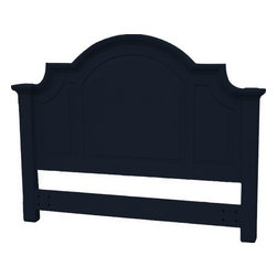 EuroLux Home - New Queen Bed Black Painted Hardwood - Product Details