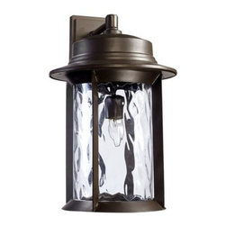 Quorum International - Quorum International 7246-11 1 Light Down Lighting Outdoor Wall Sconce from the - Transitional 1 Light Down Lighting Outdoor Wall Sconce from the Charter CollectionLooking to add some light to the outdoor areas of your home? Take a look at this durable outdoor wall sconce from the Charter collection. Featuring a contemporary styled roof holding up a stunning clear hammered glass diffuser, this fixture will add style and light to make your outdoor spaces more functional. UL listed for wet locations, this fixture is also rugged and will stand up to the elements.Features: