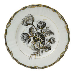 Lavish Shoestring - Consigned 8 Flow Blue Dinner Plate by Wedgwood Nymphea Pearl, English circa 1870 - This is a vintage one-of-a-kind item.