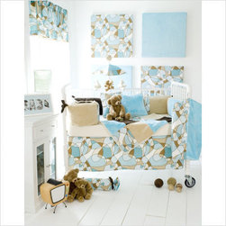 Glenna Jean Scribbles Blue Crib Bedding Collection - For the modern parent, this Scribbles bedding collection offers a blend of a soft palate and strong geometric patterns. This intricate yet delicate collection is perfect for both Girl and Boy baby, and sets the tone of a nursery without requiring a lot of surrounding stuff.