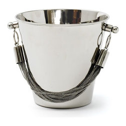 Chained Ice Bucket - Your ice bucket has never looked so good! Gorgeous on a bar and even better when filled with chilled champagne.