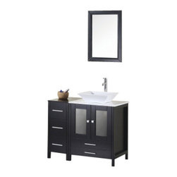 "Design Element - Design Element DEC072A Arlington 36"" Single Sink Vanity Set in Espresso - Design Element DEC072A Arlington 36"" Single Sink Vanity Set in Espresso"