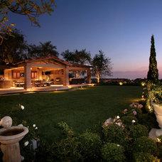 Mediterranean Landscape by AMS Landscape Design Studios, Inc.