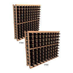 """Wine Cellar Innovations - Ten Column Individual; WineMaker: Rustic Pine, Dark Walnut - 3 Ft - Each wine bottle stored on this ten column individual bottle wine rack is individually cradled. All WineMaker wine racks must be mounted 1 1/2"""" off the wall to ensure proper wine bottle stability. Assembly Required."""