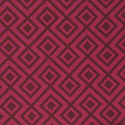 Groundworks - La Fiorentina Fabric, Wine/Magenta - David Hick's, La Florentina is a contemporary and fresh pattern whether used for drapes or throw pillow. This fabric is cut to order and is one of his most popular patterns in 100% Linen and comes in 7 color ways.