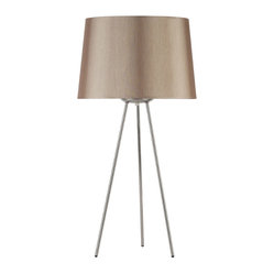 Weegee Medium Table Lamp, Croissant Silk Glow