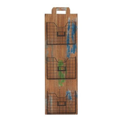 BZBZ93865 - Lexington Exclusive Wood Metal Wall Rack - Lexington Exclusive Wood Metal Wall Rack. This exclusive wood metal rack will allow you to keep all your valuables in a place without messing up with them. Some assembly may be required.
