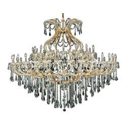 Elegant Lighting - Elegant Lighting 2801G72G/RC Maria Theresa Collection Large Hanging Fixture - Elegant Lighting 2801G72G/RC Maria Theresa Collection Large Hanging Fixture