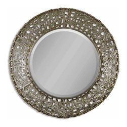 Uttermost - Uttermost 11603 B Alita Woven Metal Mirror In Champagne - This mirror features a frame made of strips of hand forged metal finished in champagne with black dry brushing and antique stain.