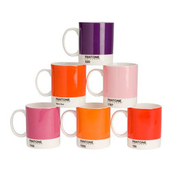Pantone Bone China Mug Set - These Pantone mugs are pretty and minimal. They would be a fantastic gift for a graphic designer or color lover!