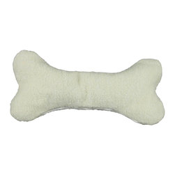 Carolina Pet Company - Bone Pillow/Toy - Removable zippered cover so you can personalize with your best friends name.  97% polyester 3% acrylic cover is machine washable.