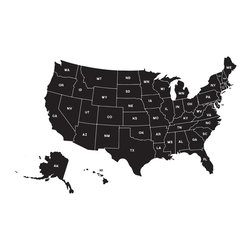 Map of United States Wall Decal - Small - Ideal for homes, kids rooms, and schools.
