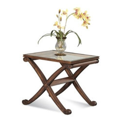 Basett Mirror - Wellington Rectangle End Table - The Wellington Rectangle End Table (Fruitwood Finish) has the following features: