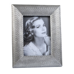 "Concepts Life - Concepts Life Photo Frame  Loving Link  5x7"" - Inspired by fine jewelry, these silver Loving Link frames will add sparkle and a hint of romance to your photograph collection. Ideal for your home as well as for your loved ones!  Modern home accent Contemporary silver picture frame Beautiful and elegant home accent Rectangular photo frame Made of polyresin Textured glossy finish Easel back for horizontal or vertical display Various sizes available Holds 5 x 7 in. size photo Dimensions: 8""w x 10""h x 1""d Weight: 2 lbs"