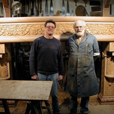 Byzantine Fireplace Mantel - Byzantine fireplace mantel hand carved in mahogany