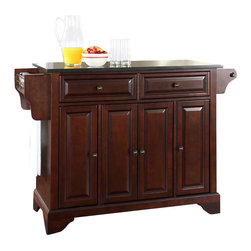 Crosley Furniture - Crosley Furniture LaFayette Black Granite Top Mahogany Kitchen Island - Crosley Furniture - Kitchen Carts - KF30004BMA - Constructed of solid hardwood and wood veneers this kitchen island is designed for longevity. The beautiful raised panel doors and drawer fronts provide the ultimate in style to dress up your kitchen. Two deep drawers are great for anything from utensils to storage containers. Behind the four doors you will find adjustable shelves and an abundance of storage space for things that you prefer to be out of sight. Style function and quality make this kitchen island a wise addition to your home.
