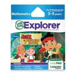 Leap Frog - LeapFrog Explorer Jake & the Never Land Pirates Learning Game - Discover numbers, shapes, and pirate treasure on this mathematics adventure! In the LeapFrog Explorer Jack & the Never Land Pirates game your children will solve puzzles to find clues and pirate treasure.