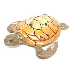 Loggerhead Sea Turtle Driftwood Look Statue Nautical - This beautiful cold cast resin loggerhead sea turtle statue is finished to look like it was carved from driftwood. The turtle measures 11 inches long, 9 inches wide and 3 inches tall. It will look great in any room with a nautical theme. This tortoise is brand new, and makes a great gift for any turtle lover.