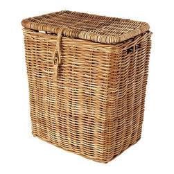 Eco Displayware - Large Clothes Rattan Hamper in Natural - Great for closet, bath, pantry, office or toy and game storage. Earth friendly. 19 in. L x 14 in. W x 22 in. H (21.28 lbs.)These natural colored baskets add warmth and charm and keep you organized.