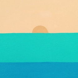 Sun (Original) by Dyd Art - A simple painting of colors and shapes, or the beach...