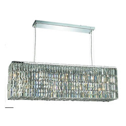 "PWG Lighting / Lighting By Pecaso - Chantal 8-Light 9"" Crystal Chandelier 6903D44C-EC - The unique design of the Chantal Collection inspires any room setting. Dazzling spectacles of light sparkles throughout the fixture creating a modern, yet timeless beauty and elegance."