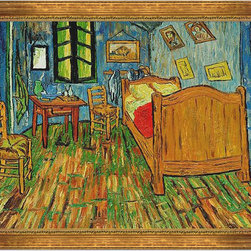 "overstockArt.com - Van Gogh - Vincent'S Bedroom At Arles - 30"" X 40"" Oil Painting On Canvas Hand painted oil reproduction of a famous Van Gogh painting, Vincent's Bedroom at Arles. Today it has been carefully recreated detail-by-detail, color-by-color to near perfection. Vincent Van Gogh's restless spirit and depressive mental state fired his artistic work with great joy and, sadly, equally great despair. Known as a prolific Post-Impressionist, he produced many paintings that were heavily biographical. This work of art has the same emotions and beauty as the original. Why not grace your home with this reproduced masterpiece? It is sure to bring many admirers!"