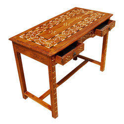 2 Drawer Sofa Foyer Outdoor Console Table Teak Wood - Wonderful Console Hand Crafted Accent/Hall Table.