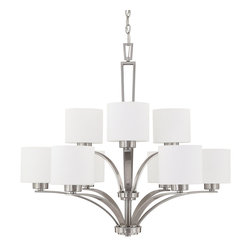 Capital Lighting - Capital Lighting 4349BN-103 Steele Brushed Nickel 9 Light Chandelier - Capital Lighting 4349BN-103 Steele Brushed Nickel 9 Light Chandelier