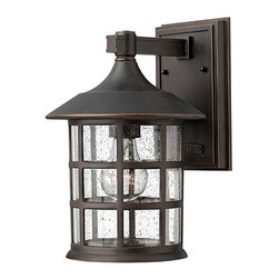 Hinkley - Freeport Outdoor Wall Lantern Oil Rubbed - The Freeport Collection features Oil Rubbed Bronze Finish and Clear Seeded Glass