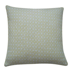 JITI - Diana Lemmon Cotton Pillow - Looking for a simple way to freshen your living room or bedroom? Try adding this charming square accent pillow. The subdued colors and repeating pattern of the cotton cover will tastefully complement a variety of color schemes and decors.