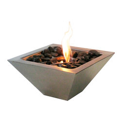 Anywhere Fireplace - Indoor/Outdoor Empire Stainless Tabletop Fireplace with Polished Black Rocks - #NAME?