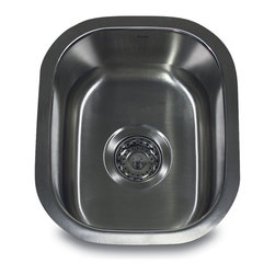 "Nantucket Sinks - Nantucket Sink ns1512 - 15"" Rectangle Undermount Stainless Steel bar/prep Sink, - Small rectangle shaped bar/prep sink, would work great for any kitchen island or bar area."