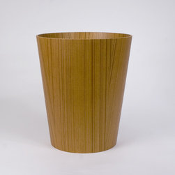 Molded Ply Wastebasket - This lovely wastebasket has a minimal Japanese beauty to it, and the woodgrain adds a warm texture.