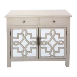 Coventry 2 Door Antique White and Mirrored Cabinet - Coventry 2 Door Antique White and Mirrored Cabinet 34 x 15 x 33 Accent Furniture ETA Shipping Early December 2013 34 x 15 x 33