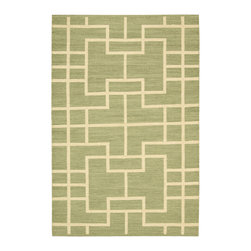 Barclay Butera Lifestyle - Barclay Butera Lifestyle Maze Maz02 Lemon Grass Area Rug - A Barclay Butera Maze rug has a tantalizing appearance with interlocking geometric patterns. The area rug features a two-toned color palette that works with many different decorating styles. Whether you want to use it as a focal point in a dining room or liven up a traditional space, the rug will definitely make a difference in a room. Create a cozy, warm space by placing a rug under a cream silk velvet chair. Maze area rugs are constructed with a flat weave design.