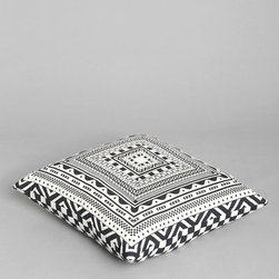 Allover Acetate Pillow - I love this black and white crash pillow.