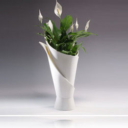 DuPont™ Corian® Accessories - Wrapped Vase by Philip Hutfield. www.pahdesign.com
