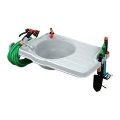 Riverstone Industries Monticello Large Potting Sink with Mounting Kit