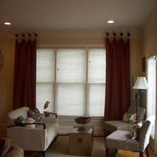Traditional Family Room by Rachael Williams Design