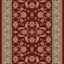 "Concord Global - Concord Global Jewel Antep Red 3'11"" x 5'7"" Rug (4440) - Jewel collection is machine-made in Turkey using 100% heat-set polypropelene. These traditional to contemporary rugs will make a colorful addition to any area."