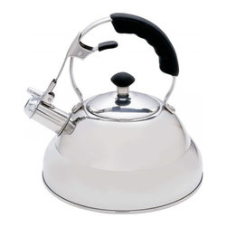 Unknown - Chef's Secret® 2.75qt T304 Stainless Steel Tea Kettle with Copper Capsule - Features mirror finish, opening lever, cover with knob, riveted handle, and whistles when the water is ready. Limited lifetime warranty.