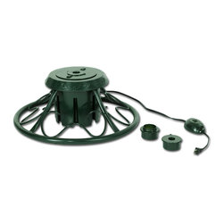 Balsam Hill - Balsam Hill Rotating Christmas Tree Stand - Let your artificial Christmas tree do a 360 degree turn with the Universal Rotating Green Tree Stand. This stand offers great stability which stops tree from tipping over.