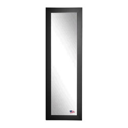 Rayne Mirrors - American Made Black Satin 21 x 60 Slender Body Mirror - Add a sophisticated and classic touch to any room with this grand black satin tall mirror. Each Rayne mirror is hand crafted and made to order with American products.  All hardware included for vertical or horizontal hanging, or perfect to lean against a wall.