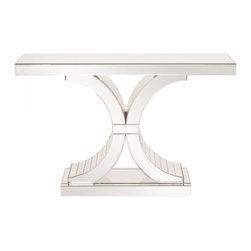www.essentialsinside.com: mirrored console table with arch accents - Mirrored Console Table with Arch Accents by Uttermost, available at www.essentialsinside.com